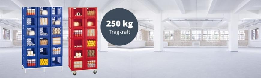 Stapelkästen-Regale Serie TK