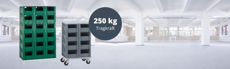 Verstärkte Stapelkästen-Regale Serie VTK