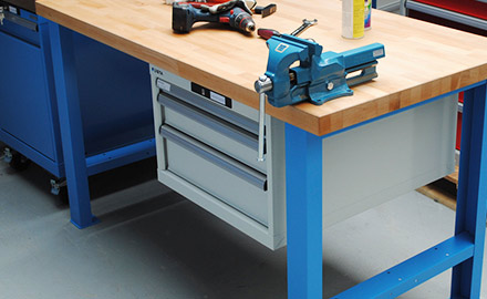 LISTA Werkbänke - Schubladenschränke