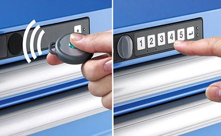 LISTA Schubladenschrank - Elektronische Schliesssysteme