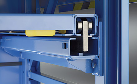 LISTA Schwerlastauszugregale - Lilo-Sicherung