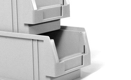 Sichtlagekästen Serie PLK - Mit Verstärkungsrippen an den Außenseiten
