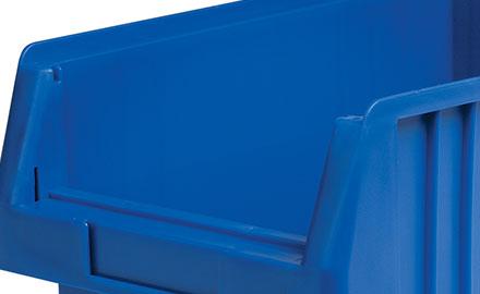 Sichtlagerkästen mit glatten Innenwänden für leichte Reinigung