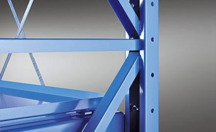 LISTA Schwerlastauszugregale - Verschweisste Stahlblechkonstruktion