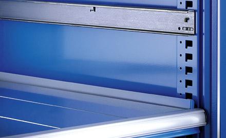 LISTA Schubladenschrank - Verstellbarkeit