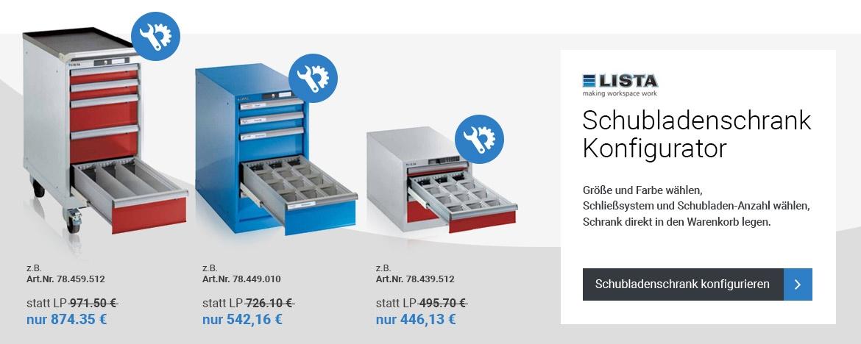 LISTA Schubladenschrank-Konfigurator